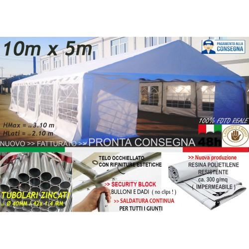 Das Company Tendone Deposito 4x6m Tendone Bianco Impermeabile 560g//m/² Tenda da stoccaggio Rinforzo dell/'Ingresso Gazebo Magazzino Tenda Capannone con telone in PVC Winter MSD