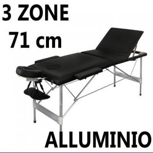 Lettino Per Massaggi Professionale Portatile In Alluminio Bianco