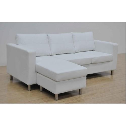 Divano 3 posti con sofa mobile colore bianco for Divano con mobile incorporato
